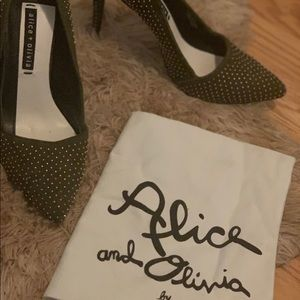 Alice and Olivia studded pumps